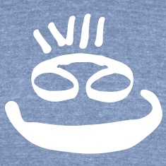 Big smiley face Men's Tri-Blend Vintage T-Shirt by American Apparel