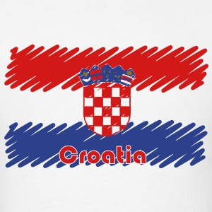 Croatian flag scribble T-Shirts - Men's T-Shirt