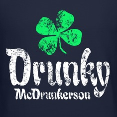 Drunky Green Long Sleeve Shirts