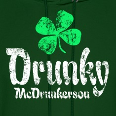 Drunky Green Hoodies