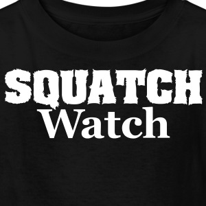 Squatch Watch (White) - Kids' Shirt - Kids' T-Shirt