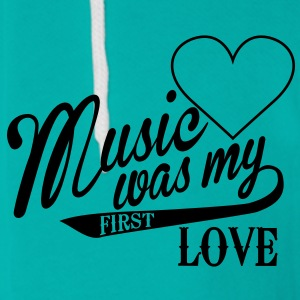 music was my first love Zip Hoodies/Jackets - Unisex Fleece Zip Hoodie by American Apparel