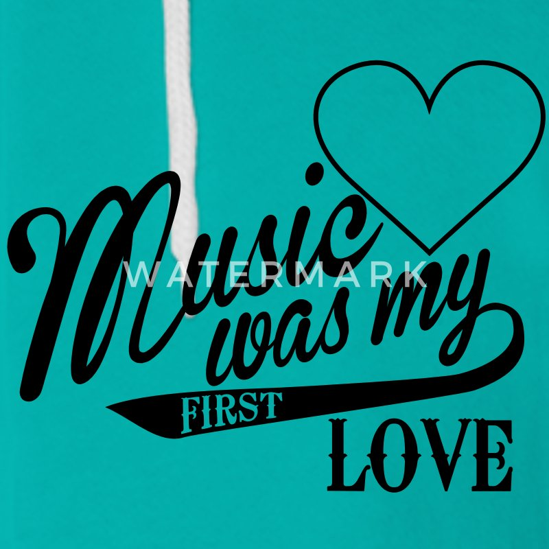 music was my first love zip hoodie spreadshirt. Black Bedroom Furniture Sets. Home Design Ideas