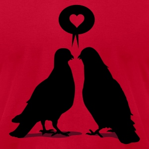 Love saying Doves - Two Valentine Birds 2c T-Shirts - Men's T-Shirt by American Apparel