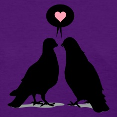 Love saying Doves - Two Valentine Birds 3c Women's T-Shirts