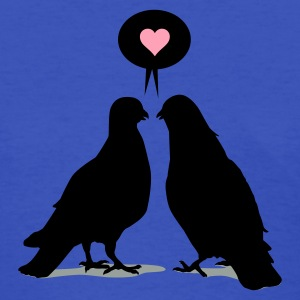 Love saying Doves - Two Valentine Birds 3c Women's T-Shirts - Women's T-Shirt