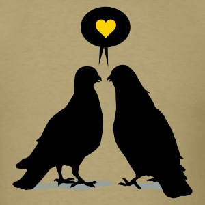 Love saying Doves - Two Valentine Birds 3c T-Shirts - Men's T-Shirt
