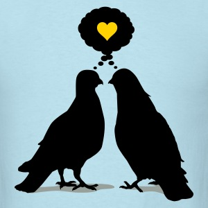 Love thinking  Doves - Two Valentine Birds 3c T-Shirts - Men's T-Shirt