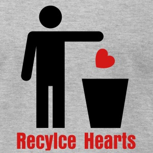 Trash Heart Man 2c T-Shirts - Men's T-Shirt by American Apparel