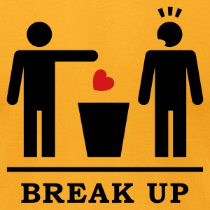 Break up - Broken Heart Boys 2c T-Shirts - Men's T-Shirt by American Apparel