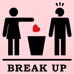 Break up - Broken Heart Man 2c Women's T-Shirts - Women's T-Shirt