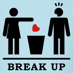 Break up - Broken Heart Man 2c T-Shirts