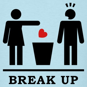 Break up - Broken Heart Man 2c T-Shirts - Men's T-Shirt