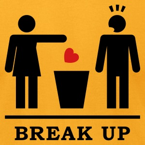 Break up - Broken Heart Man 2c T-Shirts - Men's T-Shirt by American Apparel