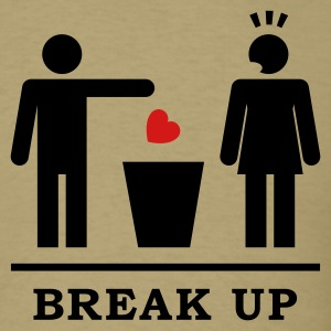 Break up - Broken Heart Woman 2c T-Shirts - Men's T-Shirt
