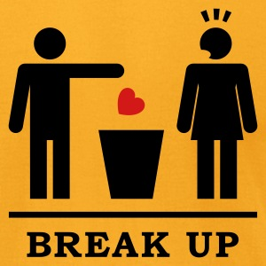 Break up - Broken Heart Woman 2c T-Shirts - Men's T-Shirt by American Apparel