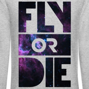 Fly or Die Long Sleeve Shirts - Crewneck Sweatshirt