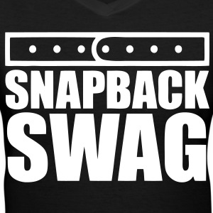 Snapback Swag Women's T-Shirts - stayflyclothing.com - Women's V-Neck T-Shirt