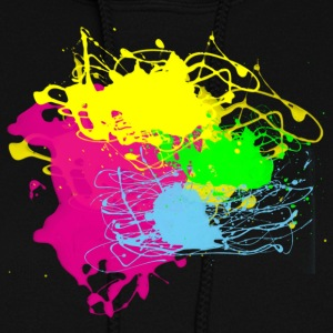 Paint Splatter - Graffiti Graphic Design - Multicolor  - Women's Hoodie