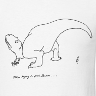 Design ~ T-Rex Picking Flowers (Basic Tee)