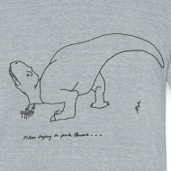 Design ~ T-Rex Picking Flowers (Am Apparel))