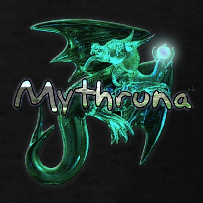 Mythruna World Back (blue text) - Kid's