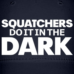 Squatchers do it in The Dark (White) - Cap - Baseball Cap