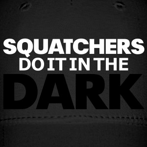 Squatchers do it in The Dark (White & Black) - Cap - Baseball Cap