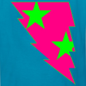 lighting_bolt_with_stars2 Kids' Shirts - Kids' T-Shirt