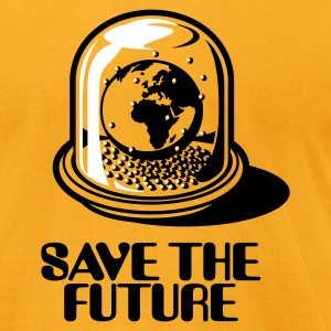 World Snow Globe - Save the future 2c T-Shirts - Men's T-Shirt by American Apparel