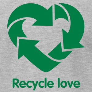 Recycling Heart 2c T-Shirts - Men's T-Shirt by American Apparel