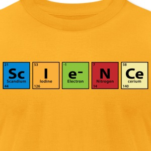 Periodic Table Science T-Shirts - Men's T-Shirt by American Apparel