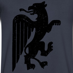 Black Griffin T-Shirts - Men's V-Neck T-Shirt by Canvas