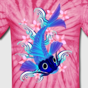 Blue Koi-SoftFlowers - Unisex Tie Dye T-Shirt