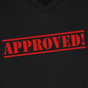 Approved T-Shirts - Men's V-Neck T-Shirt by Canvas