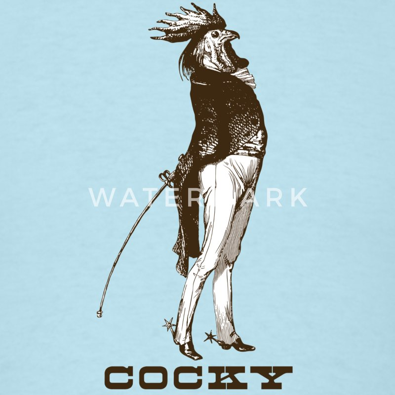 Cocky the Vintage Rooster Chicken - Men's T-Shirt