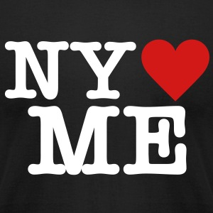 NY loves ME - Men's T-Shirt by American Apparel