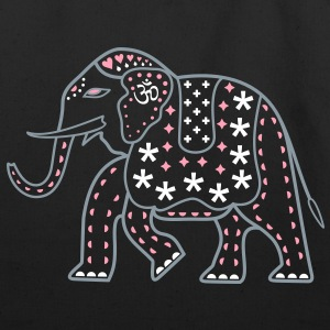 Indie Pop Elephant Tote - Eco-Friendly Cotton Tote