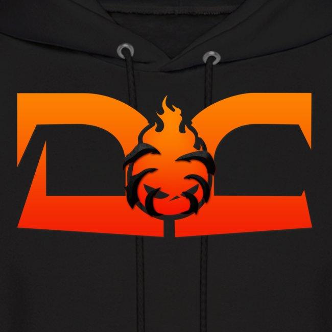 MEN'S HOODIE: DotaCinema red logo black