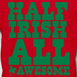 HALF IRISH all awesome St Patrick's Day Design Zip Hoodies/Jackets - Unisex Fleece Zip Hoodie by American Apparel