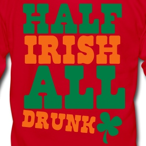 HALF IRISH all drunk St Patrick's day design Zip Hoodies/Jackets - Unisex Fleece Zip Hoodie by American Apparel