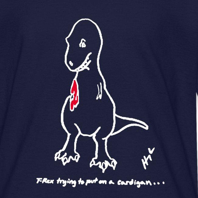 T-Rex Cardigan White Design (Kids)