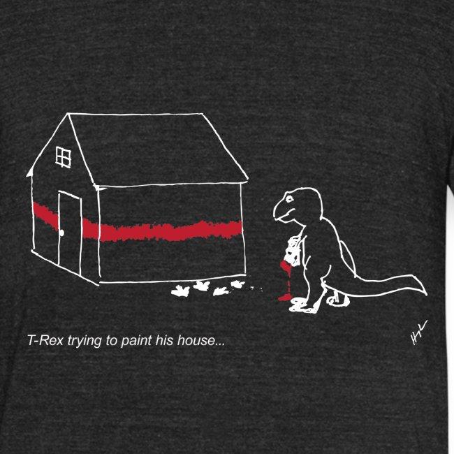 T-Rex Painting House White Design (Am Apparel)