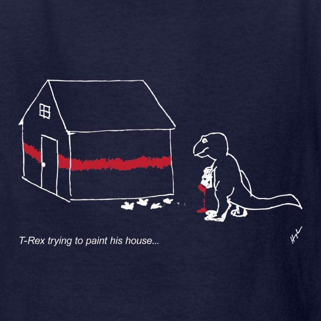 T-Rex Painting House White Design (Kids)