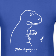 Design ~ T-Rex Bathroom White Design (Basic Tee)