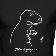 Design ~ T-Rex Bathroom White Design (Long Sleeve)