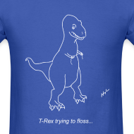 Design ~ T-Rex Flossing White Design (Basic Tee)