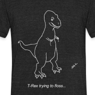 Design ~ T-Rex Flossing White Design (Am Apparel)