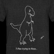 Design ~ T-Rex Flossing White Design (Am Apparel)