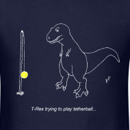 Design ~ T-Rex Tetherball White Design (Basic Tee)
